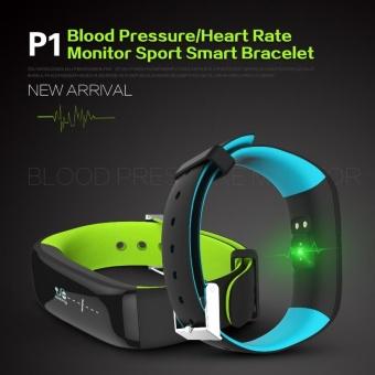 P1 Smartband Blood Pressure Monitor Smart Band Pedometer ActivityTracker Pulse Monitor Wristband Fitness Bracelet for Phone - intl - 2