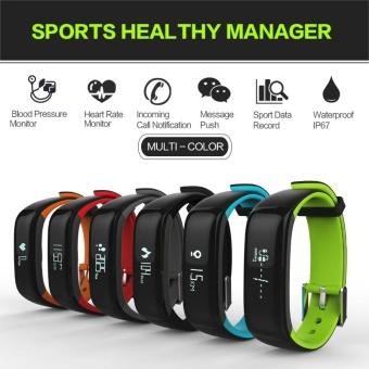 P1 Smartband Blood Pressure Monitor Smart Band Pedometer ActivityTracker Pulse Monitor Wristband Fitness Bracelet for Phone - intl - 5