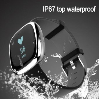 P2 Wristband Smart Watch Heart Rate blood pressure MonitorBluetooth IP67 Water Proof Sports Bracelet For Android And IOS -intl