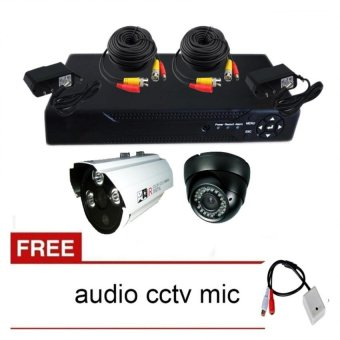 Package 3 CCTV DVR and Camera with Free CCTV Audio Mic