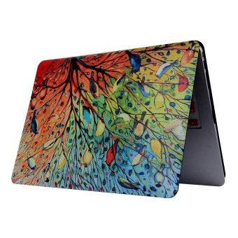 Patterned PC Hard Case for MacBook Pro 13-inch (2016) - Tree andBirds - intl