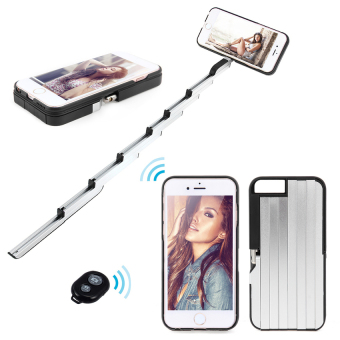 PC Selfie Stick Phone Case for iPhone 6 Plus/6S Plus (Black) - intl