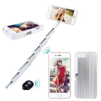 PC Selfie Stick Phone Case for iPhone 6/6S (White) - intl