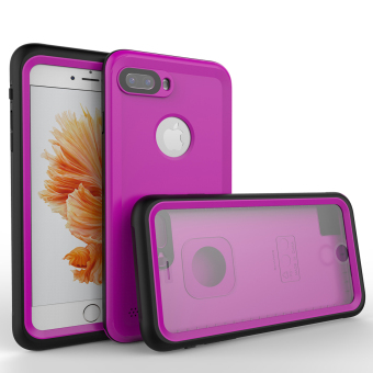 PC + TPU Waterproof Full Body Protective Case Cover For iPhone 7 Plus (Purple)
