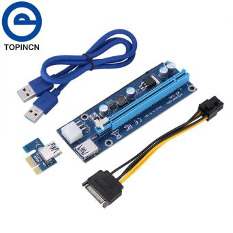 PCI-E Express 1x to 16x USB 3.0 Powered Extender Riser AdapterGraphics Card with SATA Cable - intl