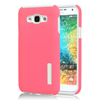 PC/TPU Back case for Samsung Galaxy E7 (Hot Pink) - Intl