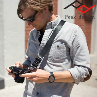 Peak camera relaxation with quick strap camera shoulder strap