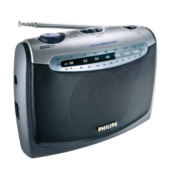 Philips AE2160/00C FM/MW Portable Radio (Silver)