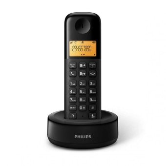 Philips D130 Cordless Telephone (Black)