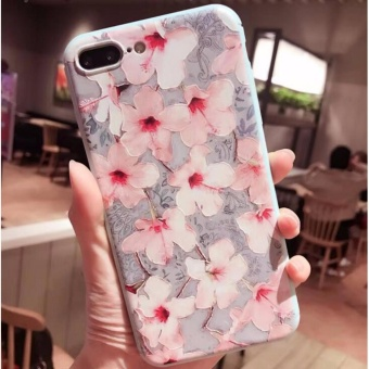 Phone Case For Apple iPhone 6 6s plus Flowers painted pattern CasesBack Cover Capa - intl