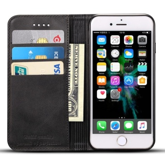Phone Case For Apple Iphone 7 Genuine Leather Card Slot Wallet flipCover full protection Cover - intl
