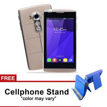Phonix Mobile P5 4.0HD LCD Dual Sim (Gold) with FREE Cellphone Stand (Color May Vary) Price Philippines