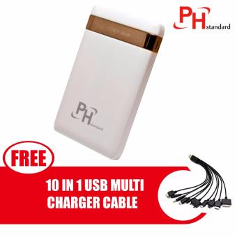 PHstandard SPN-998 10500mAh Power Bank with LED Light and 3 PortUSB Output with free 10 In 1 USB Multi Charger Cable For IPhone/Nokia /Samsung /HTC, Charger Cable, Charger, Iphone, Phone