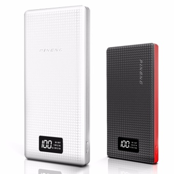 Pineng PN-969 20000mah Powerbank (White and Grey) with Pineng PN-963 10000mah Powerbank (Black/Red)