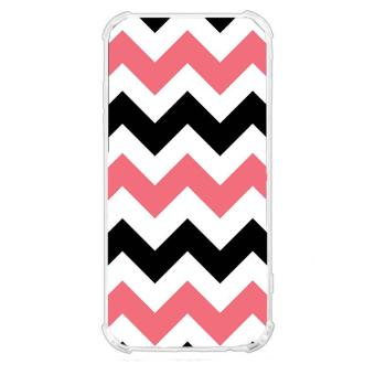 Pink Stripe Design TPU Back Cover Case for Samsung Galaxy A7 2017
