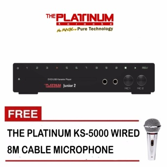 Platinum KS-10+ Junior 2 DVD Karaoke Player with 13,373 Songs and Free Platinum KS-5000 Microphone
