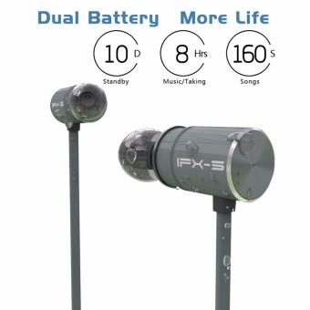 Plextone BX343 Wireless Headphone IPX5 Waterproof Dual Battery 8 Hours music time Bluetooth Sport Earphone for Running - intl - 3