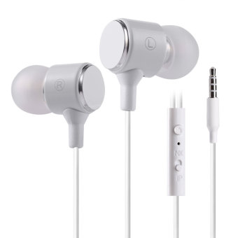 PLEXTONE X34M 3.5mm Plug Earphones Universal Line-control With Mic(White)--TC--TC