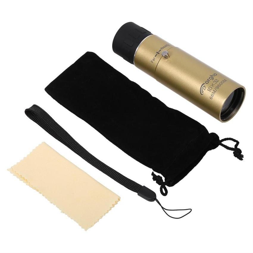 Pocket-size Night Vision Monocular Telescope 10-30X Zoom Hd OutdoorSpyglass(Gold) - intl
