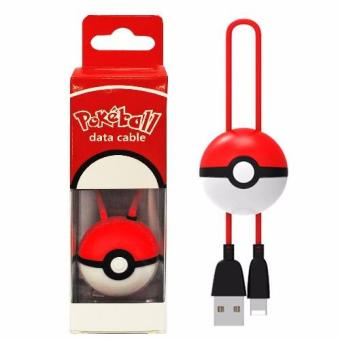 Pokemon 0.3m Pokeball Portable Retractable Micro USB Data Charger Cable For Apple iPhone 5/5S/6/6S/6 Plus/6S Plus (Red)