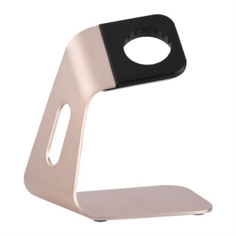 Portable Aluminum Charging Dock Base Cradle Stand Showing HolderFor Apple Watch (Gold) - intl Price Philippines