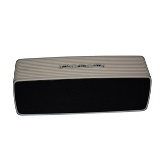 speakers portable. portable bluetooth dual speakers ultra bass (gray)