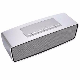 Portable Bluetooth Wireless FM Stereo Mini Speaker (Silver)