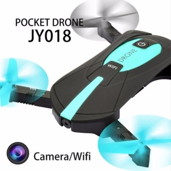 Portable Jy018 Foldable Mini Selfie Drone Pocket Folding QuadcopterAltitude Hold Headless Wifi Fpv Camera Rc Helicopter Vs H31 withFree Samsung In-Ear Earphones EO-IG955 For Samsung S8 / S8+ /Smartphone made in AKG (Black)