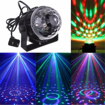 Portable LED Disco Party Magic Stage Ball Light Lamp with Remote Control Light - intl