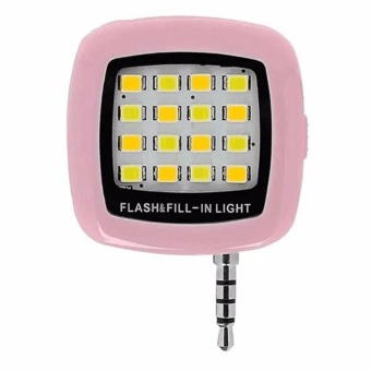 Portable LED Selfie Flash Fill-in Light for Camera Mobile Phone(Pink)