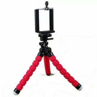 Portable Phone Holder Digital Camera 15CM Flexible Tripods OctopusStand for Camera/Smartphone (Red) - 2