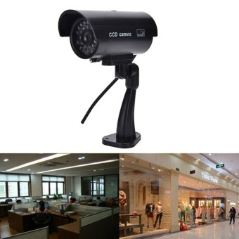 Portable Quality Dummy Fake Outdoor Indoor Security Camera Night Blinking LED Black - intl