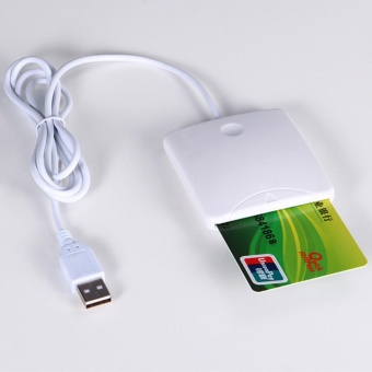 Portable USB Contact Smart Chip Card IC Credit Cards Reader WriterWith SIM Slot - intl