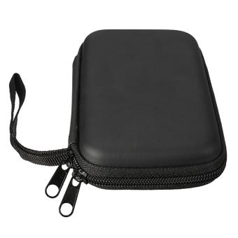 Portable Zipper External 2.5 HDD Bag Case (Black) - 3