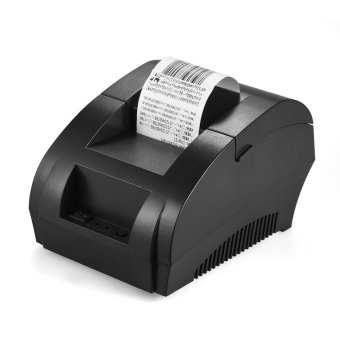 POS-5890K 58mm USB Printer Receipt Bill Ticket POS Cash Drawer Restaurant Retail Printing EU Plug (Black) - intl
