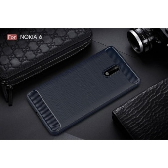 Power up Carbon Rugged Armor Cover Case for Nokia 6 - (blue)