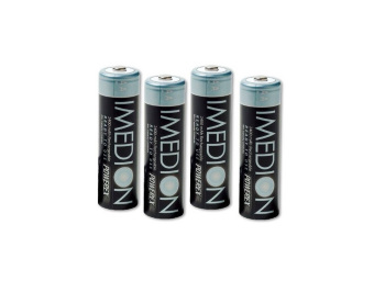 Powerex MHRAAI4 Imedion AA 2400mAh 4-Pack Rechargeable Batteries - 2