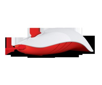 PowerLogic Shark 1000CPI USB Wired Mouse (White/Red)