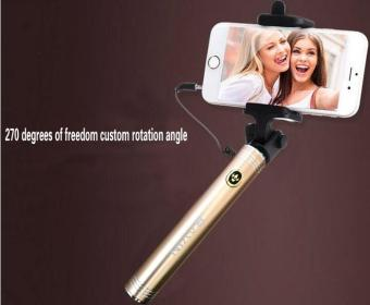 Powerlong Bavin H520 Extendable Selfie Stick Monopad For IOS andAndroid Smartphones (Gold)