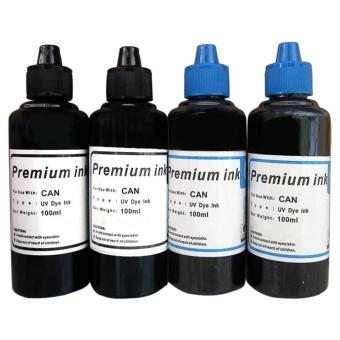 Premium Dye Ink for Canon Set of 4 (Black/Cyan)