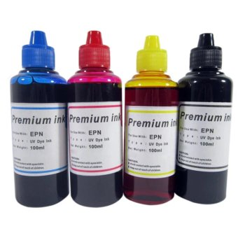 Premium Dye Inks 100ml for Epson Inkjet Printers, Set of 4(Cyan/Magenta/Yellow/Black)