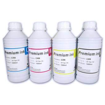 Premium Dye Inks for Canon/HP 1 Liter Set of 4(Cyan/Magenta/Yellow/Black)