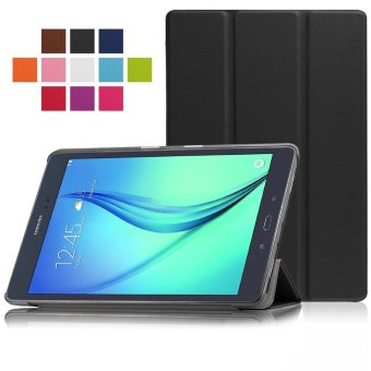 Premium Leather Cover for Samsung Galaxy Tab A SM-T550 9.7-Inch (Black)