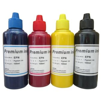 Premium Pigmet Ink for Epson Set of 4 (Cyan/Magenta/Yellow/Black)