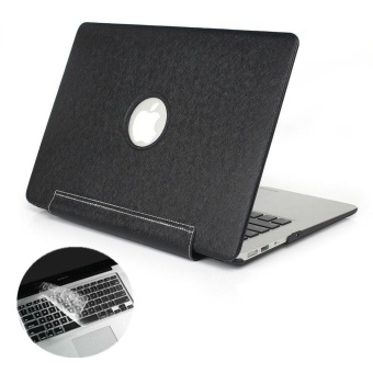 Premium PU leather Skin Case MacBook Pro (A1706/A1708)13 Inch PUCase 2017 &2016 Release A1706/A1708, PU Case Ultra Slim LightWeight PU Leather Coated Plastic Hard Cover Snap On Protective Casefor The New Macbook Pro 13 Inch (Black) - intl