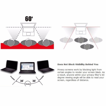 Privacy Protective LCD Screen Filter For 14 Inch PC ComputerMonitor Laptop - intl - 3