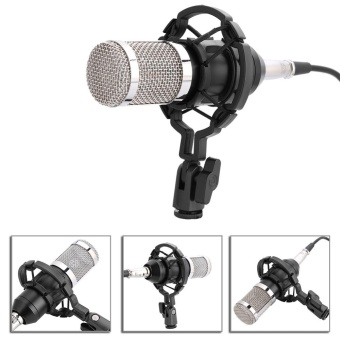 Professional Audio Condenser Microphone Set Studio Sound Recording Mic with Shock Mount - intl