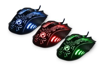 Professional Backlit LOL / CS Gaming Mouse USB Mouse Mice Black - 4