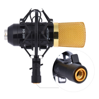 Professional Broadcasting Studio Recording Condenser Microphone MicKit with Shock Mount Adjustable Suspension Scissor Arm StandMounting Clamp Pop Filter - intl - 3