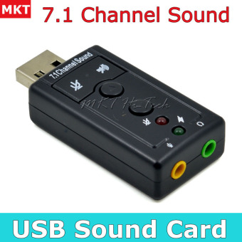 Professional External USB Sound Card Adapter Virtual 7.1 Channel 3D Audio with 3.5mm Headset Microphone for PC Desktop Laptop